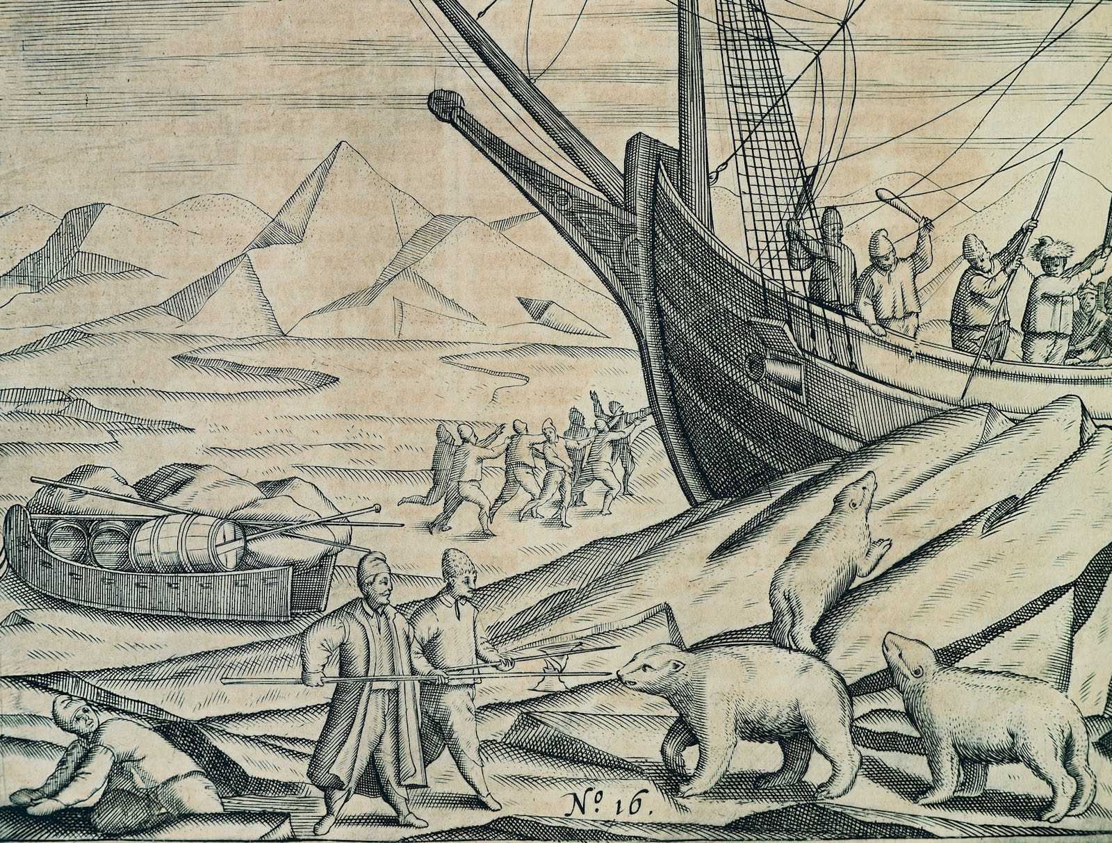 Sailors fight off polar bears