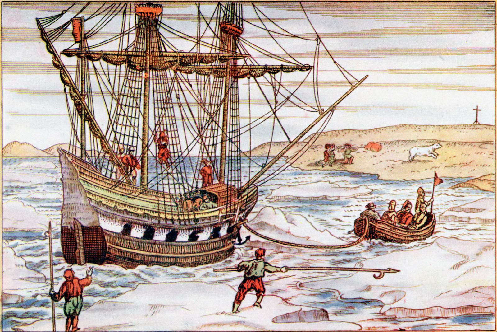 Barents's ship in sea ice
