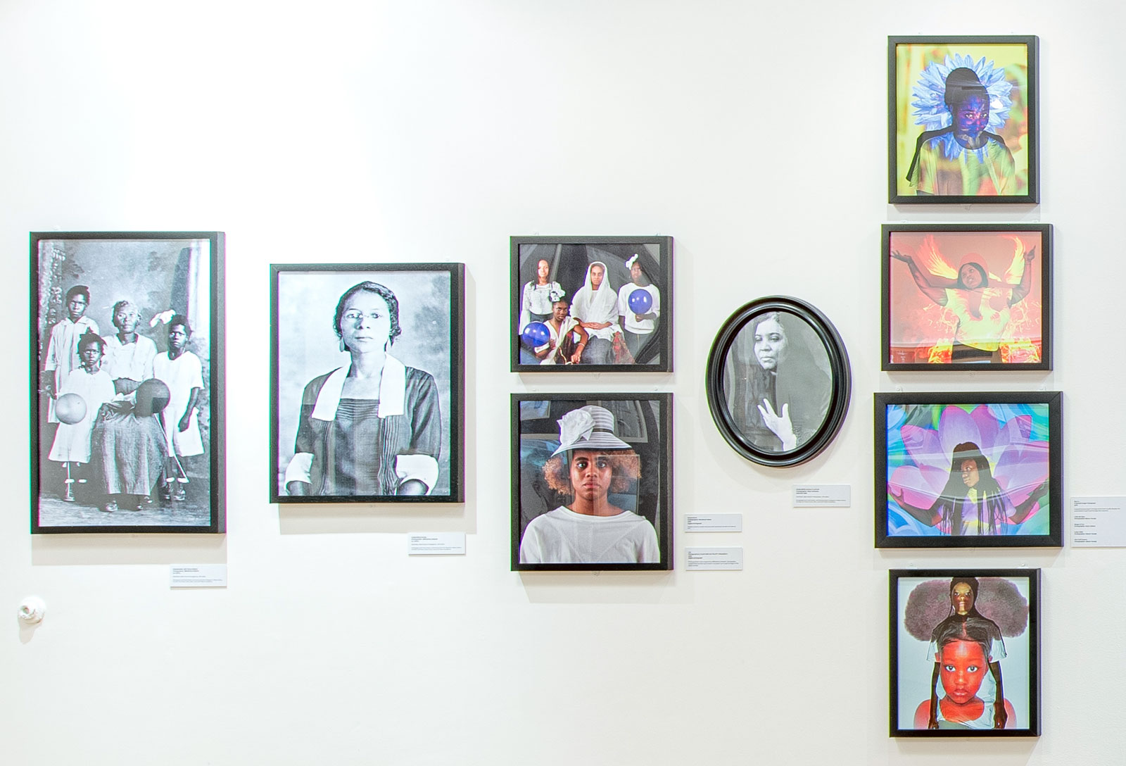 Installation shot of the Femmetography exhibition at the Schomburg Center for Research in Black Culture