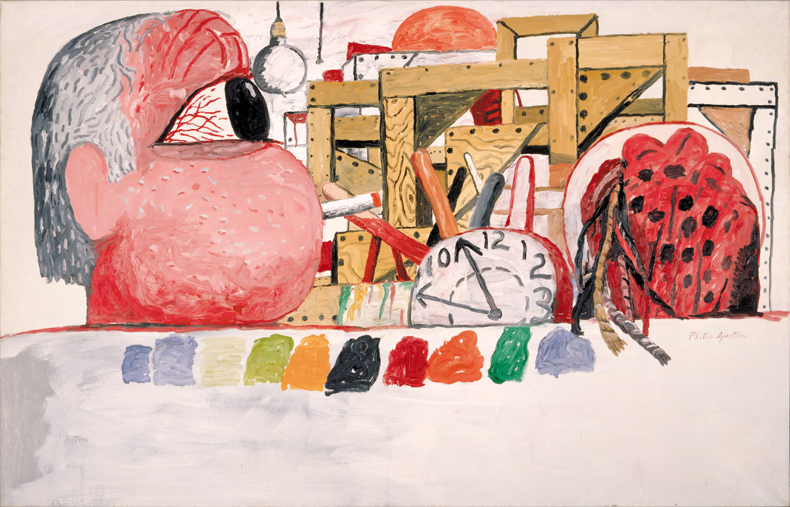 Studio Landscape, 1975; painting by Philip Guston