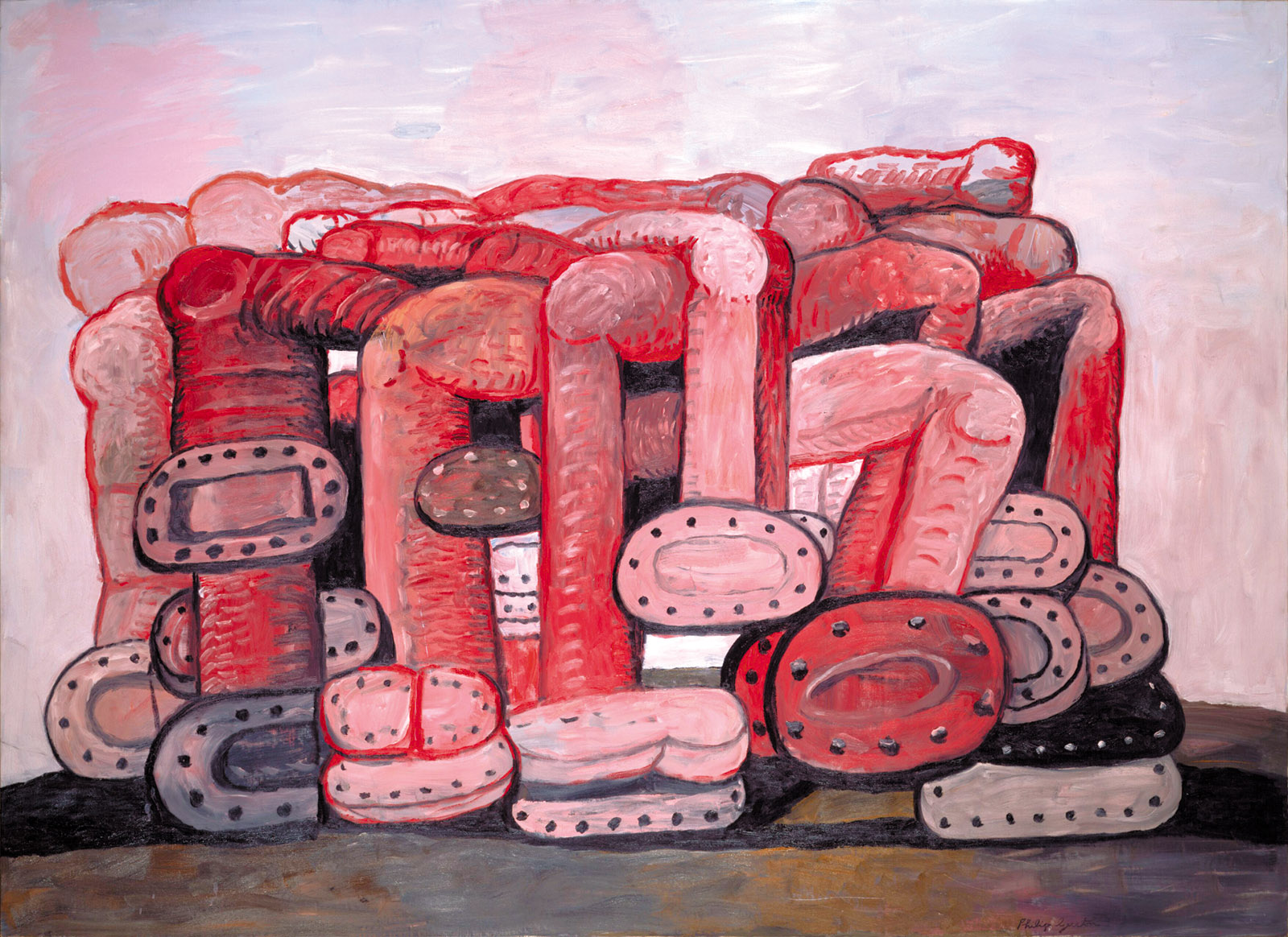 Monument, 1976; painting by Philip Guston