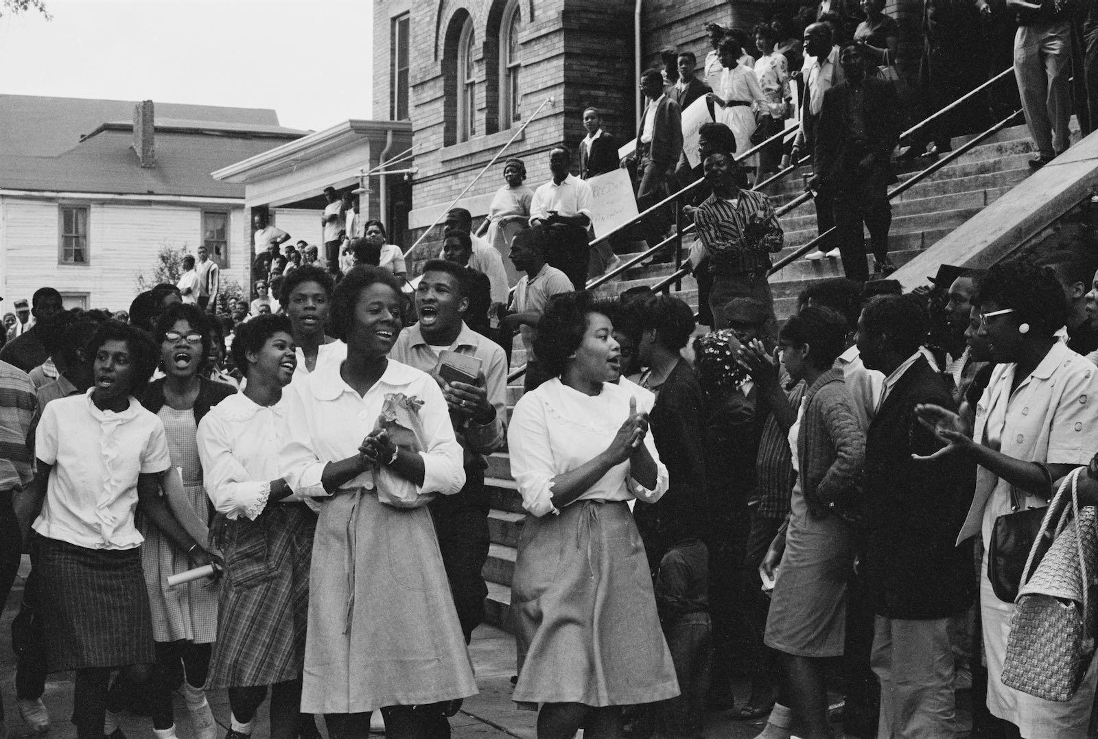 Demonstration at the 16th Street Baptist Church, Birmingham, Alabama, 1963