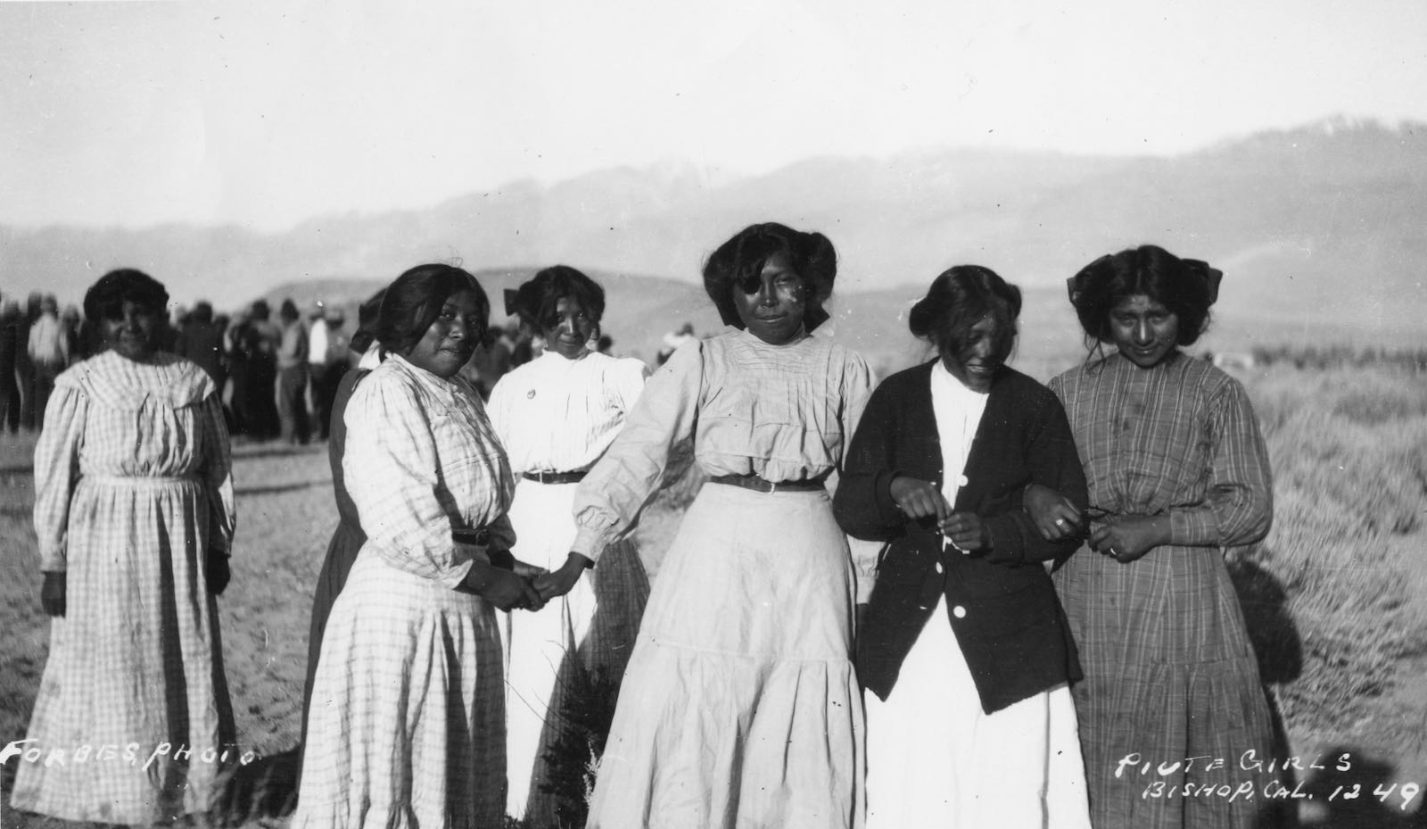 A group of young Paiute women, Bishop, California, circa 1910