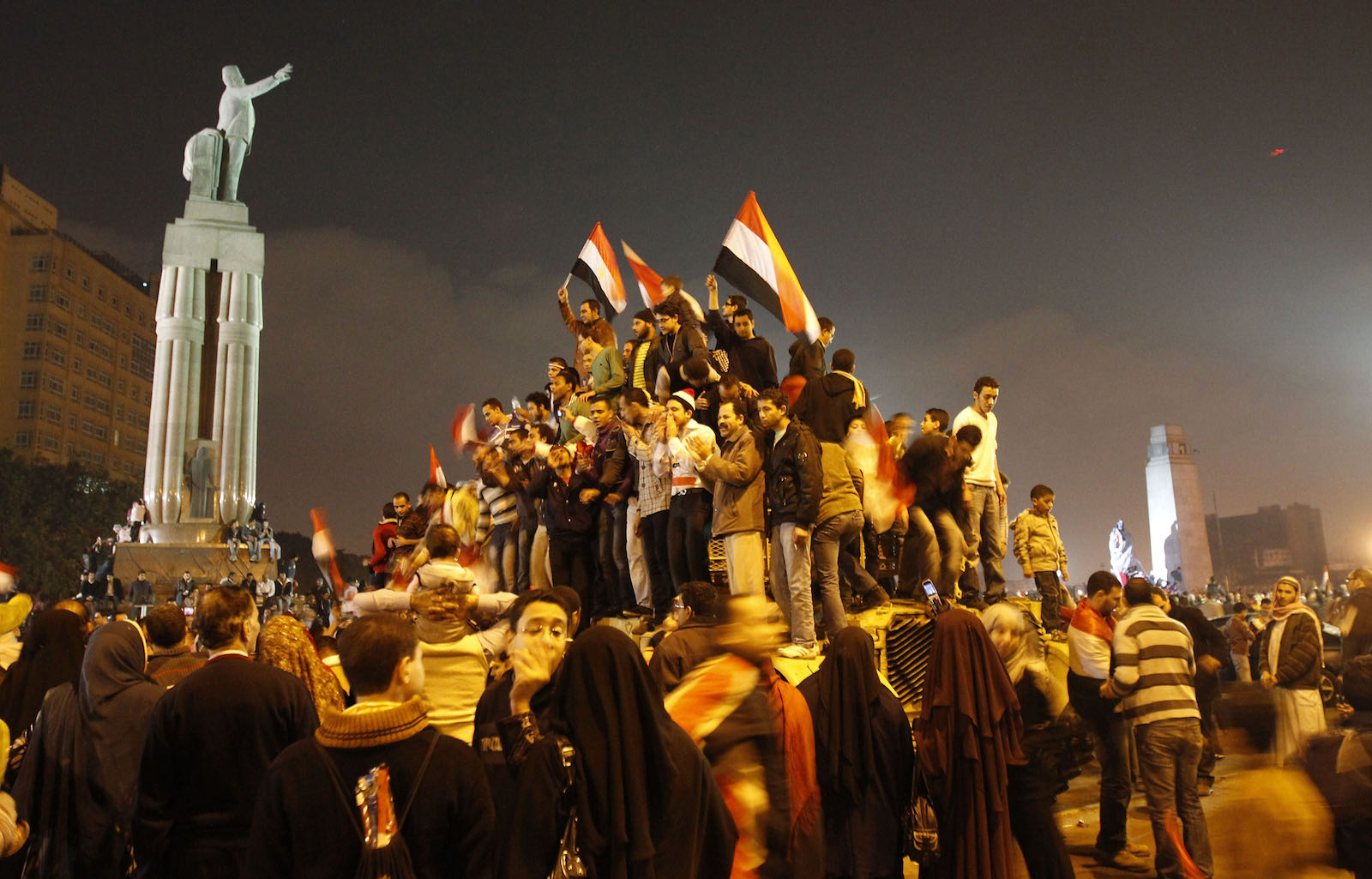 Jubilant Egyptian protesters