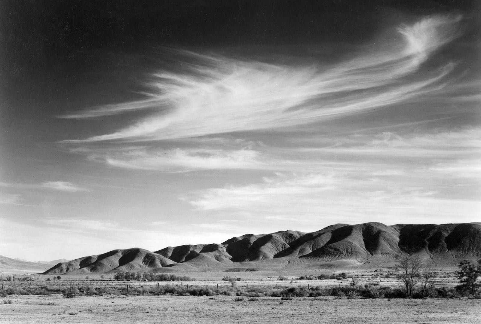 A view from Manzanar toward the Alabama Hills