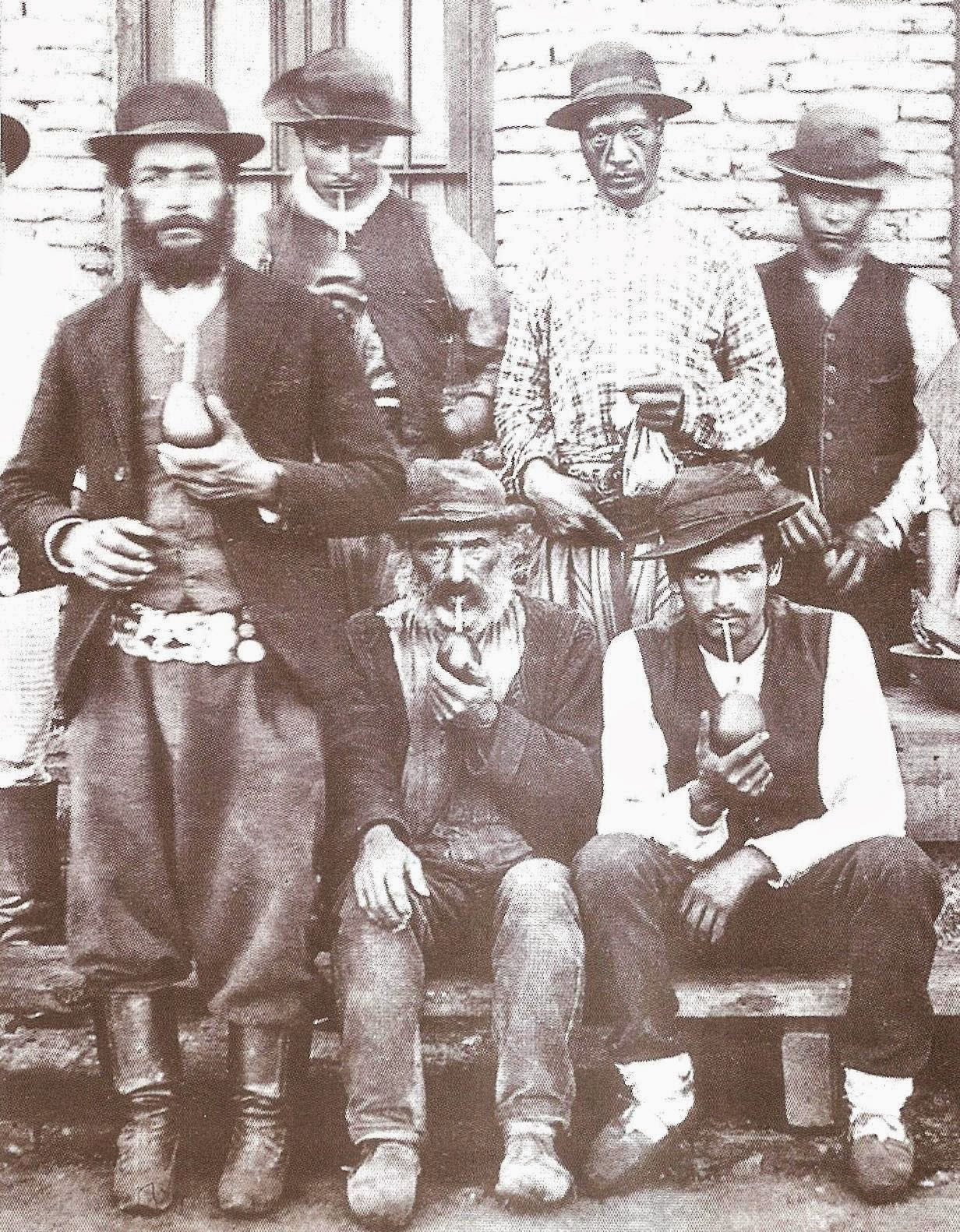 Black gauchos, Argentina, 1895