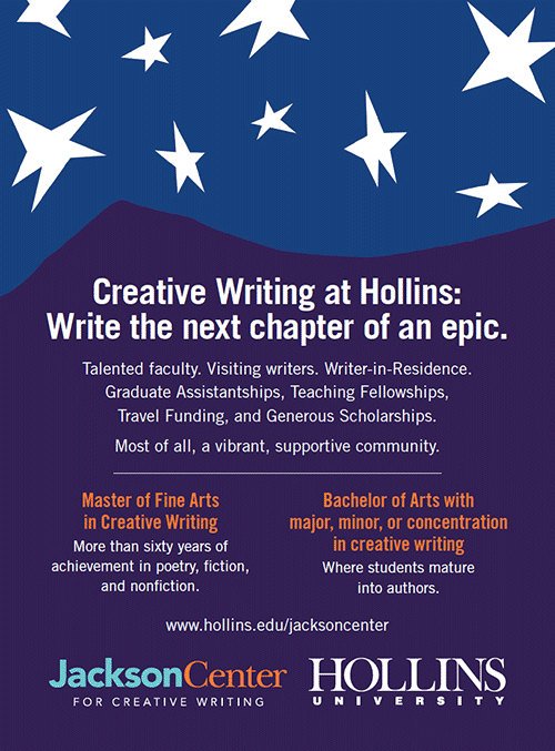 Ad for Creative Writing at Hollins