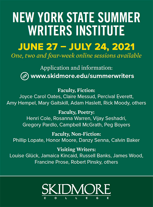 Ad for New York State Summer Writers Institute