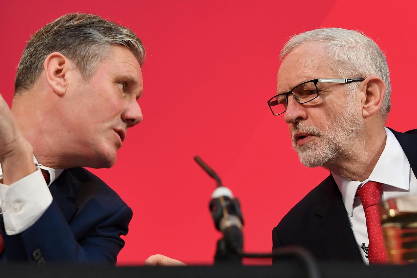 Keir Starmer with Jeremy Corbyn