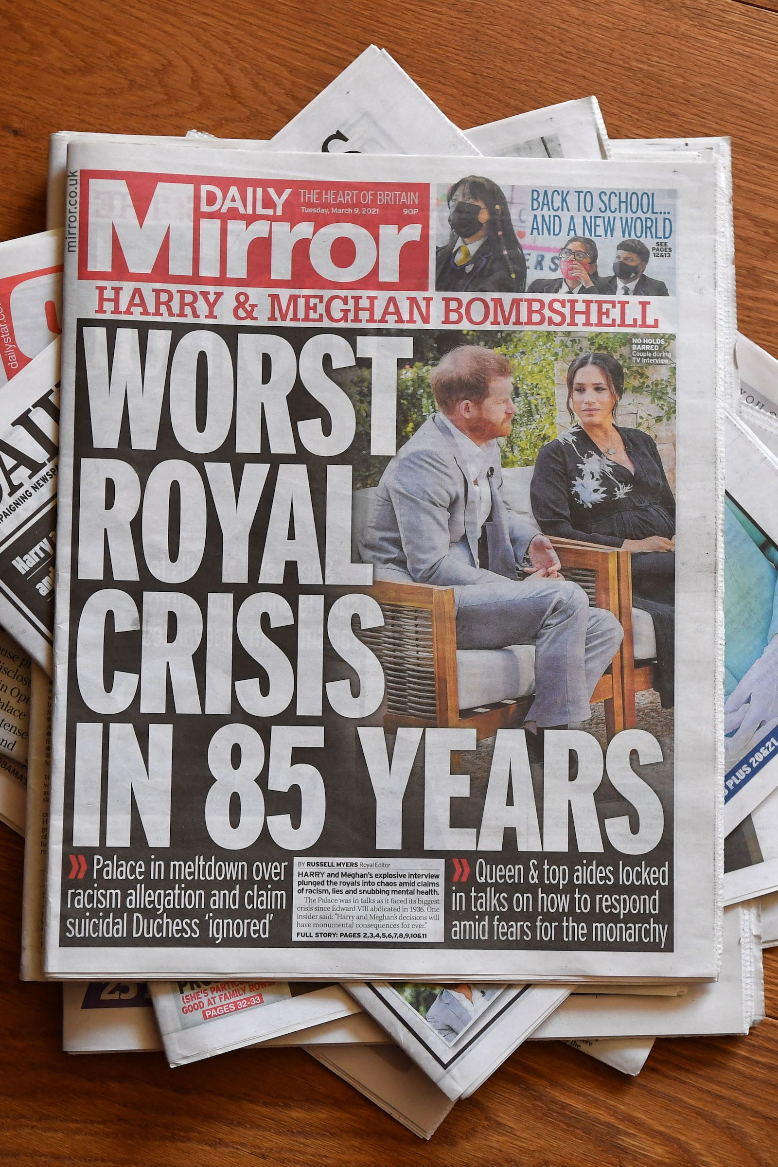 UK daily newspaper headlines