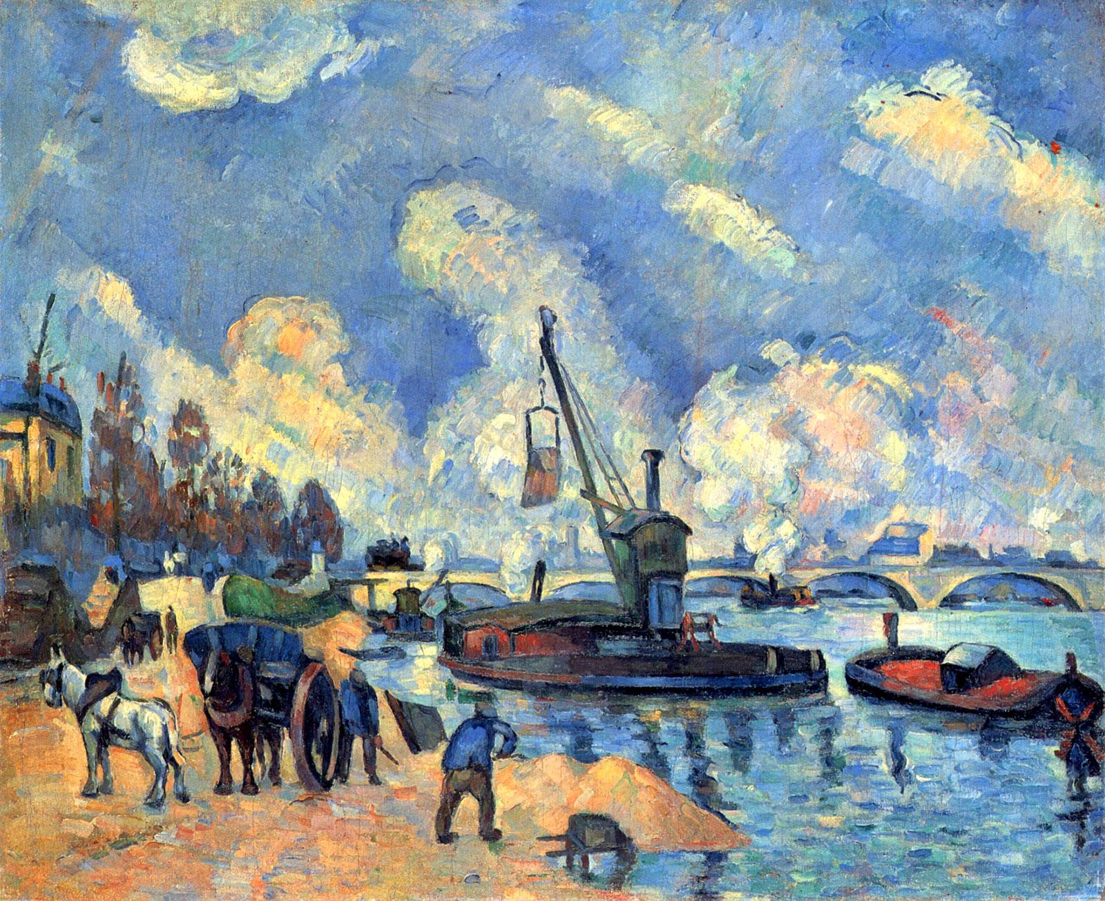On the Quai de Bercy in Paris; painting by Paul Cézanne