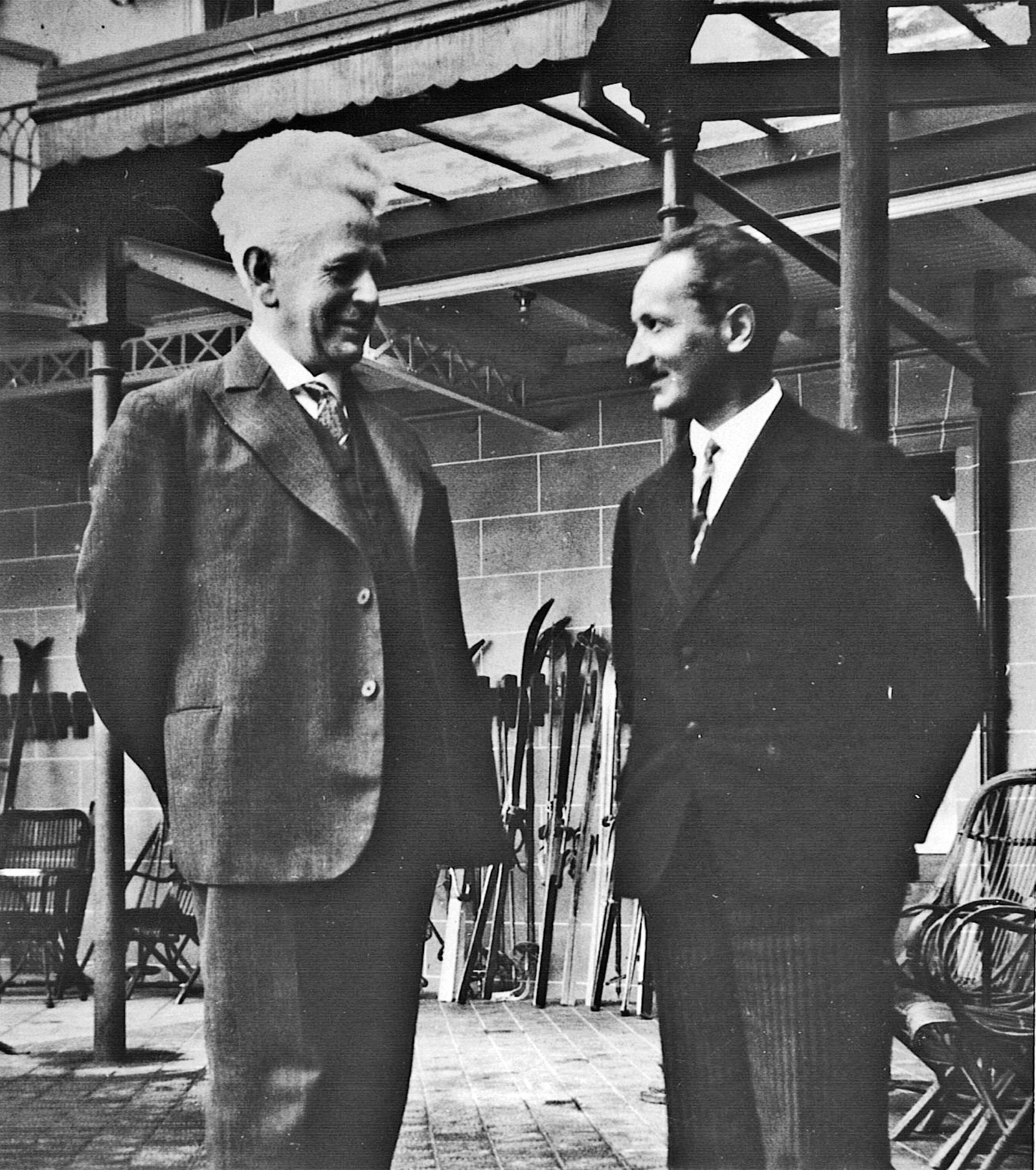 Ernst Cassirer and Martin Heidegger, Davos, Switzerland