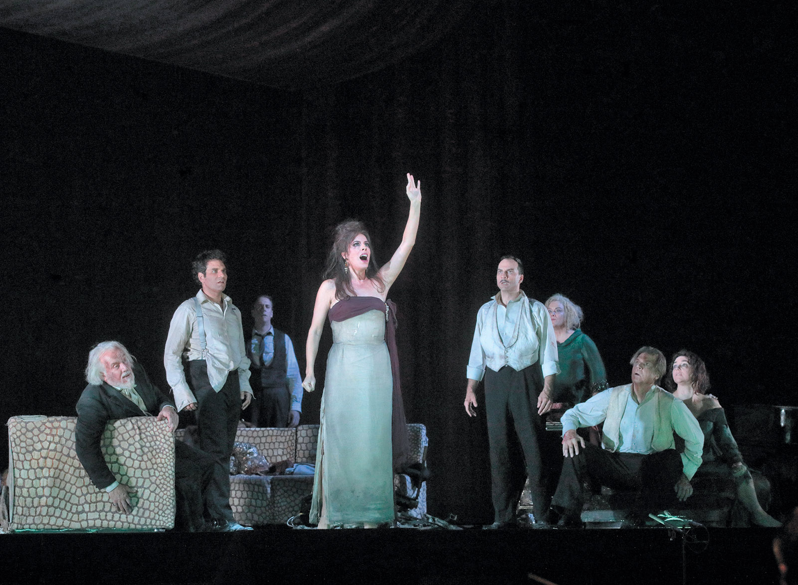 Audrey Luna as Leticia Maynar in The Exterminating Angel at the Metropolitan Opera, New York City
