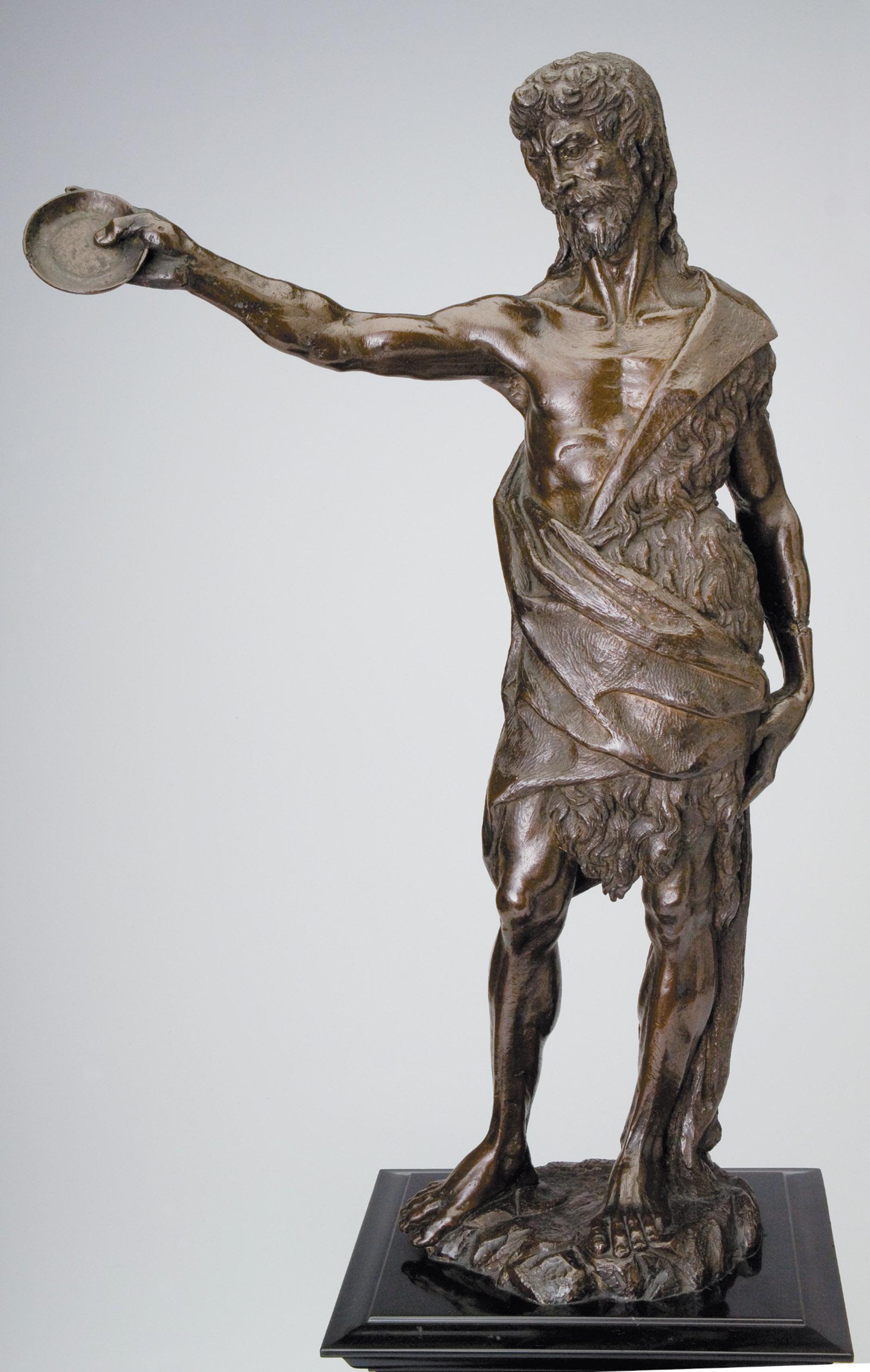 St. John Baptizing; statue by Francesco da Sangallo