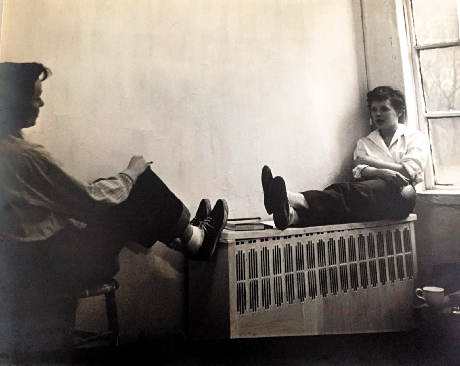Louise Fitzhugh with France Burke in the apartment they shared, New York City