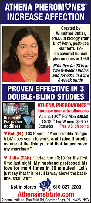 Ad for Athena Pheromones