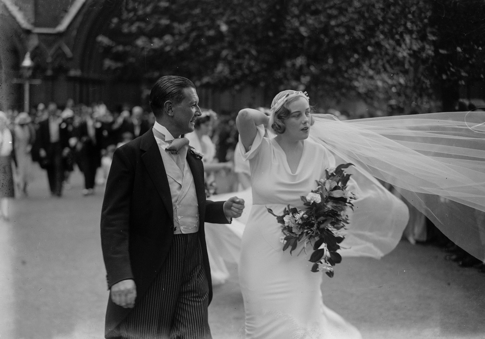 Chips Channon and Honor Guinness at their wedding