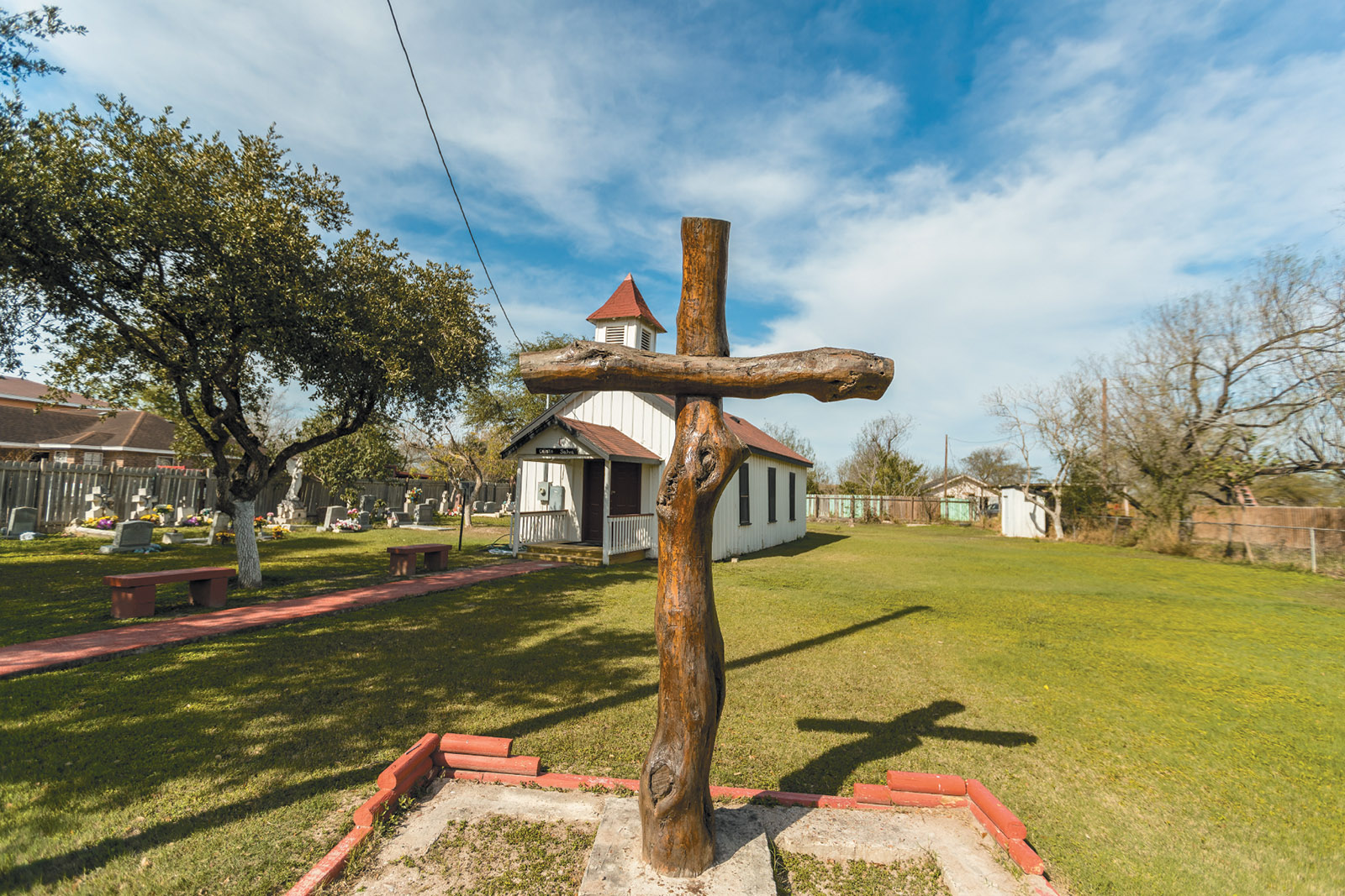 The Eli Jackson Methodist Church and cemetery, located on a ranch once operated by Nathaniel and Matilda Jackson, who are believed to have helped slaves escape to Mexico, San Juan, Texas