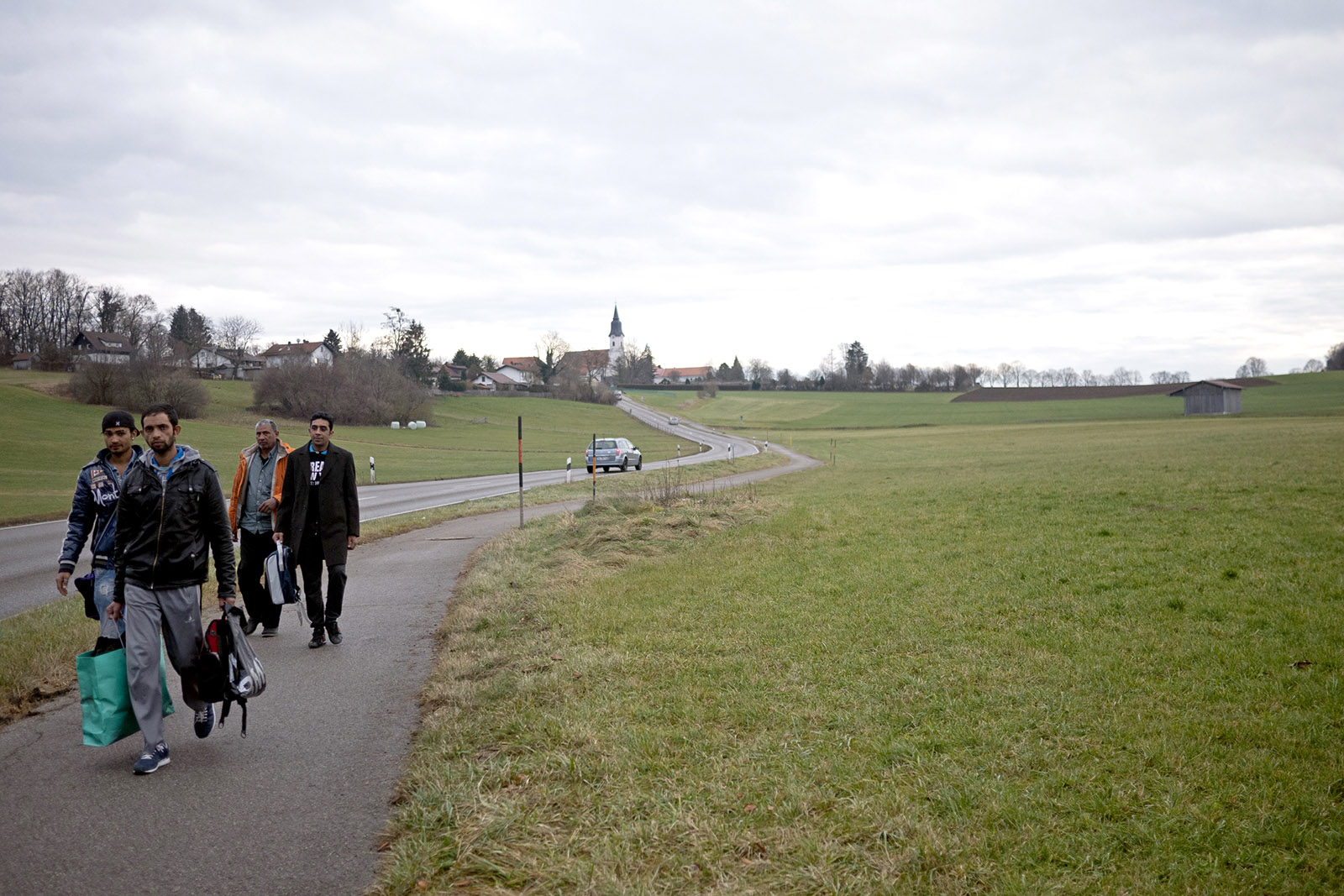 Refugees in Berg am Starnberger See, Germany