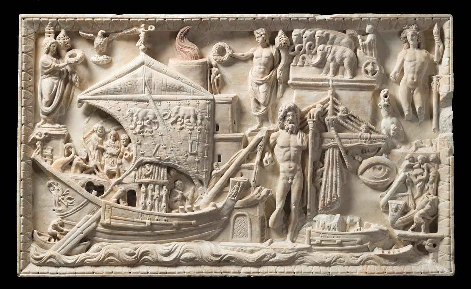 Bas relief of the port of Rome, circa 200 CE