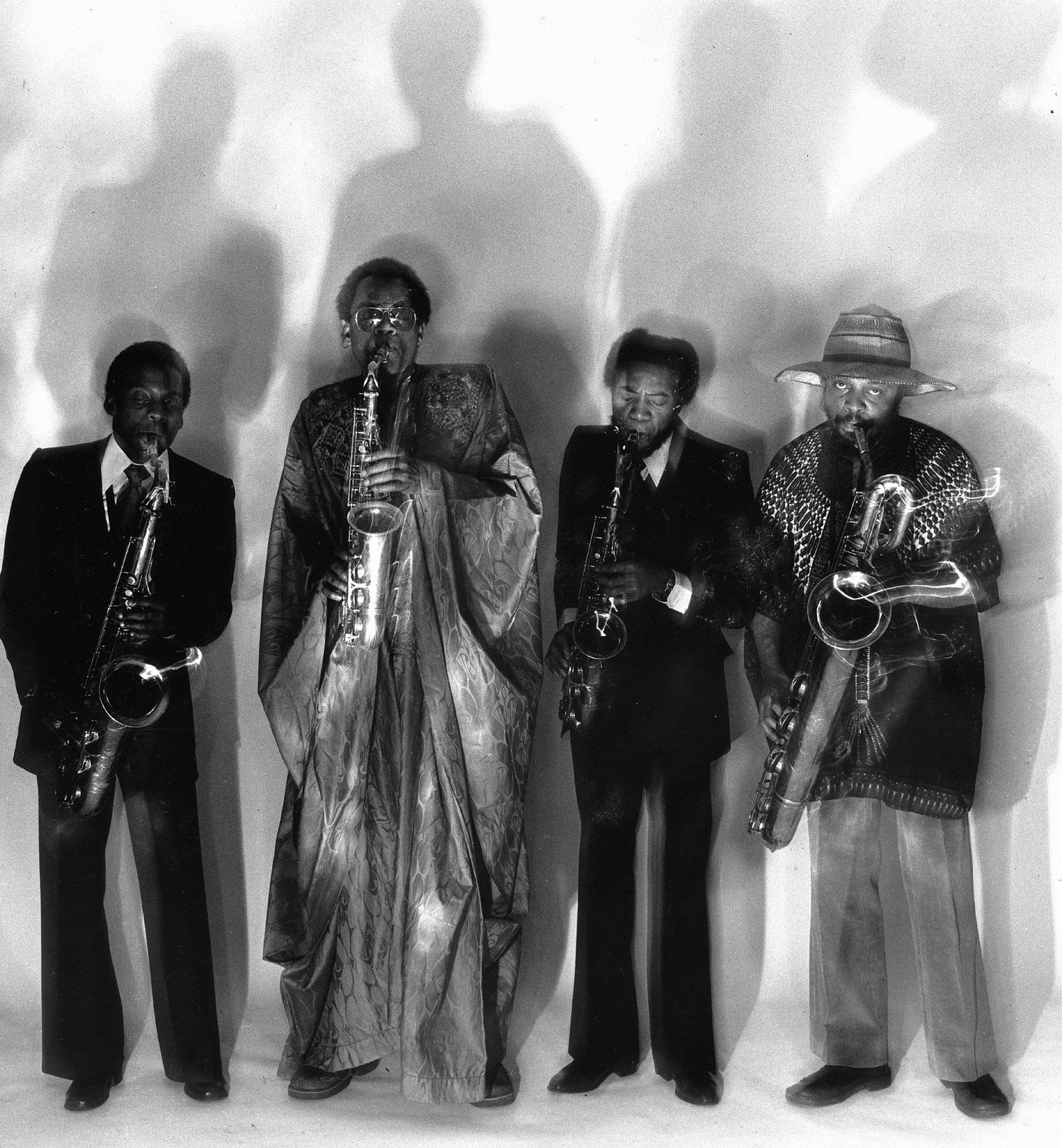 World Saxophone Quartet members David Murray, Julius Hemphill, Oliver Lake, and Hamiet Bluiett