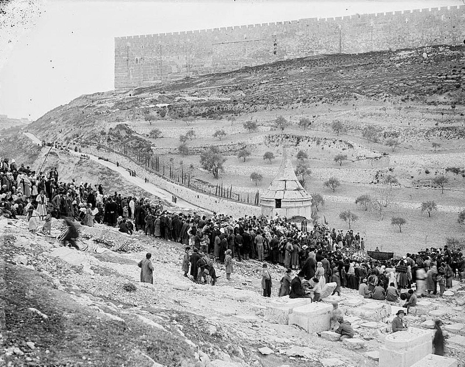 A cholera wedding, Jerusalem