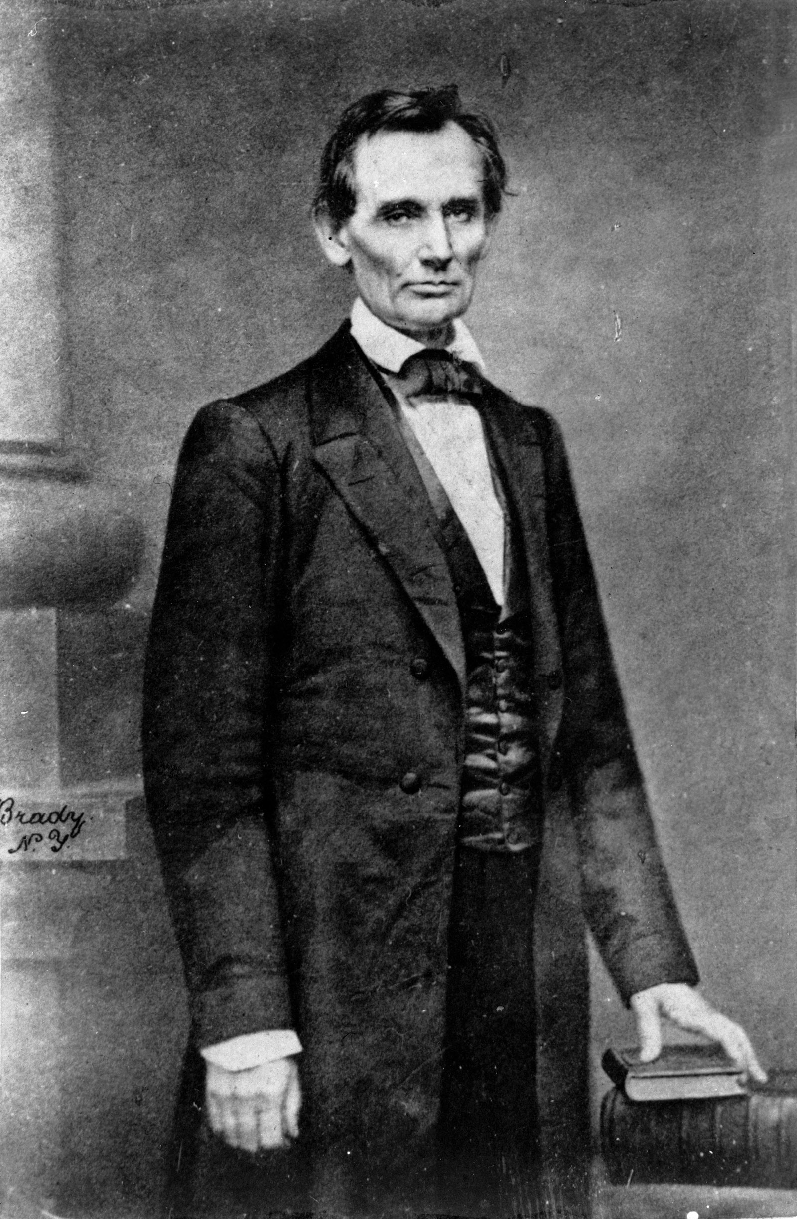 Abraham Lincoln before delivering his Cooper Institute address, New York City