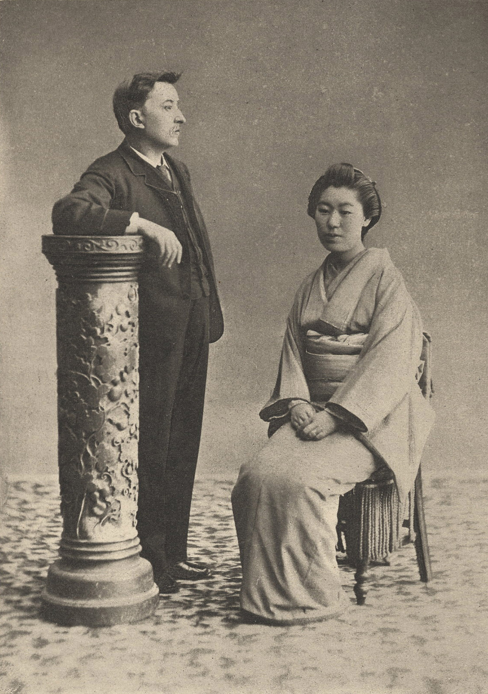 Lafcadio Hearn and his second wife, Setsuko Koizumi