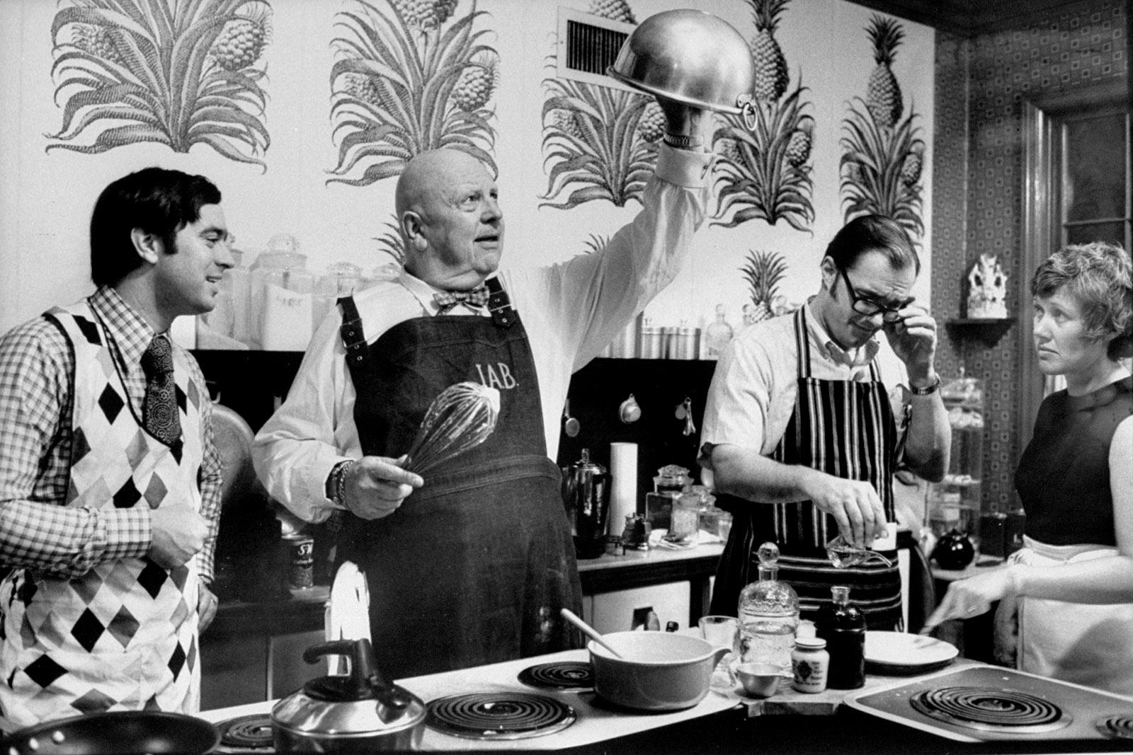 James Beard demonstrating how to whip egg whites