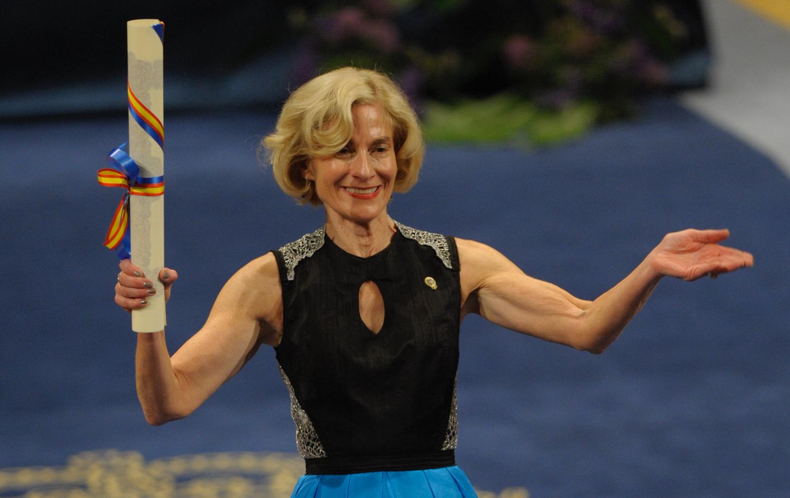 Nussbaum receiving the Prince of Asturias Award