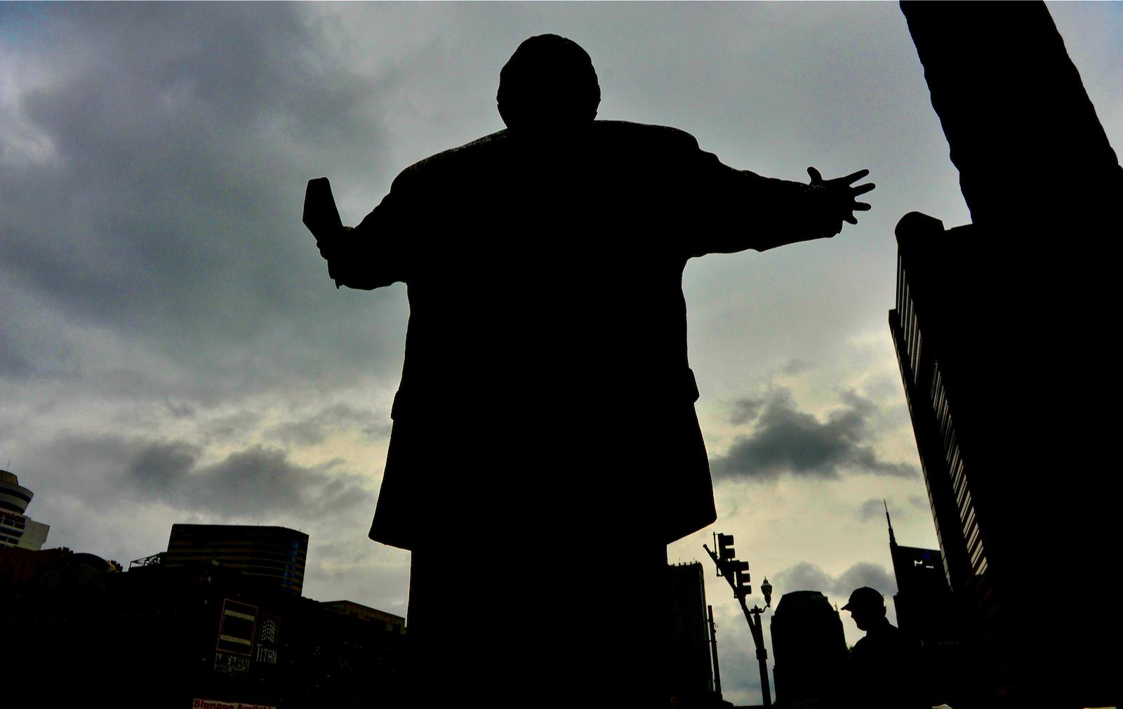 A statue of evangelist Billy Graham