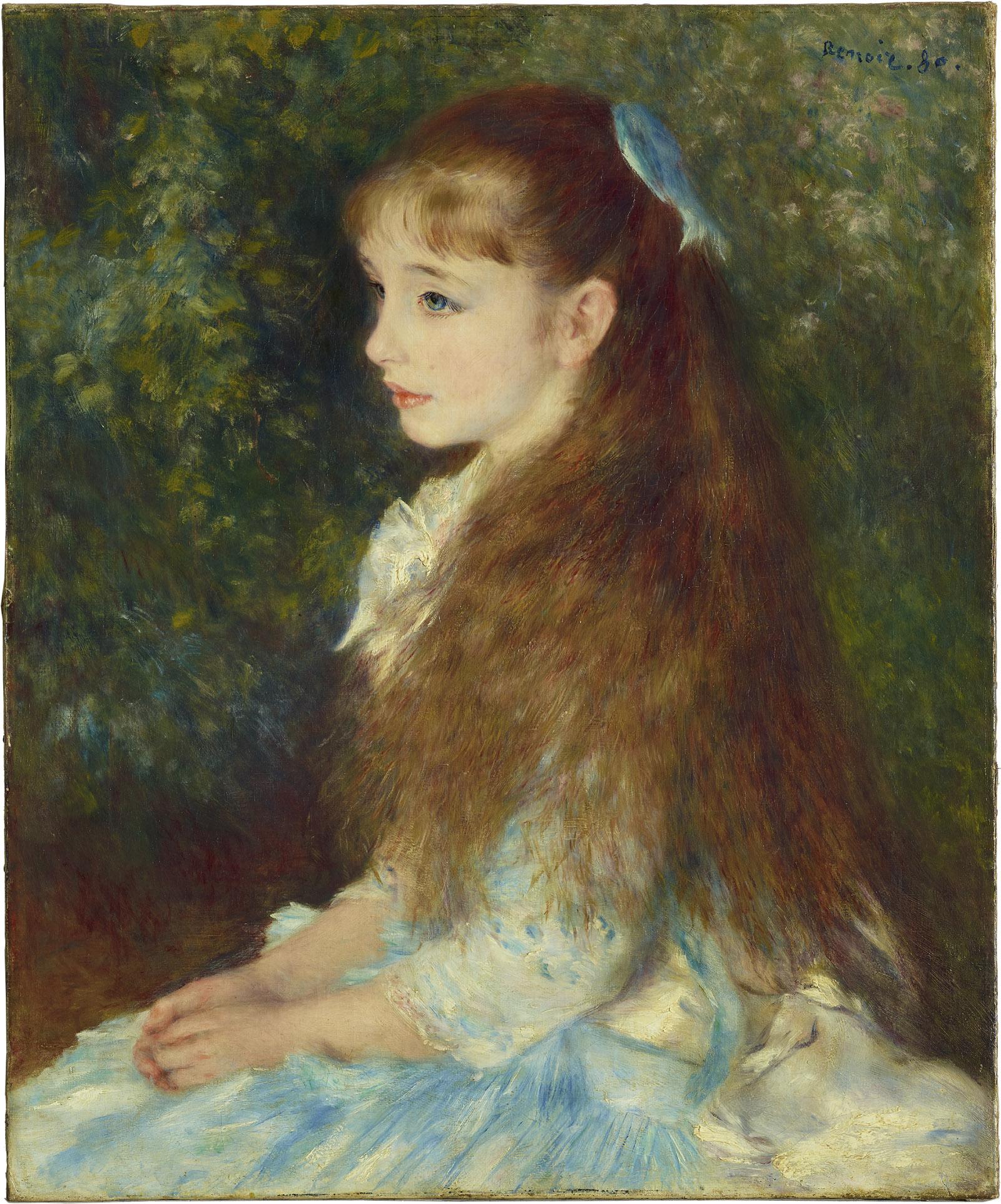 Mlle Irène Cahen d'Anvers; painting by Pierre-Auguste Renoir
