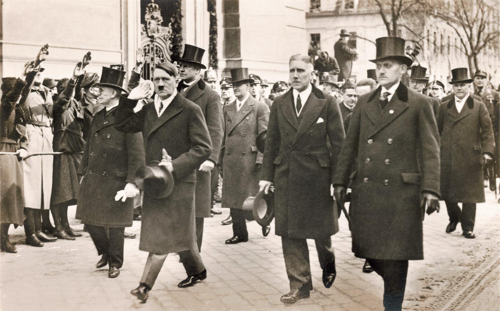 German Chancellor Adolf Hitler and Vice Chancellor Franz von Papen