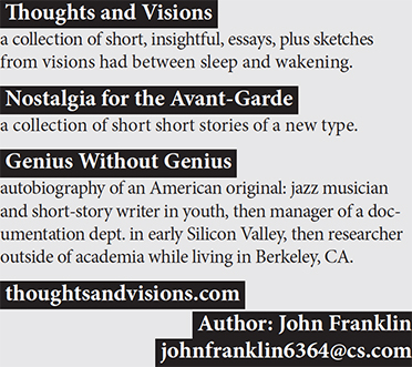 Ad for books by John Franklin