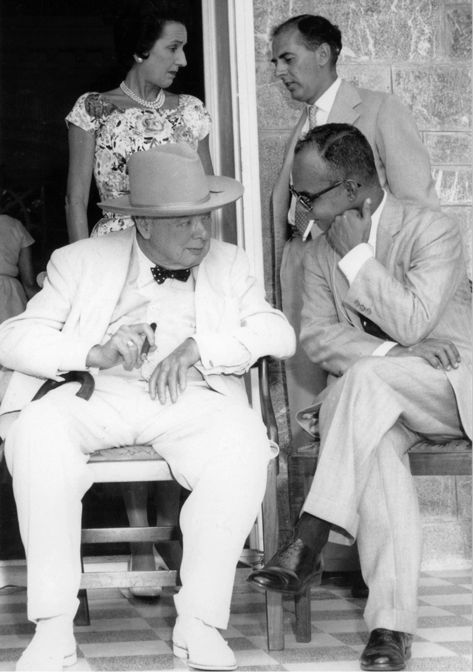 Winston Churchill, former prime minister of the United Kingdom, and Eric Williams, premier of Trinidad and Tobago