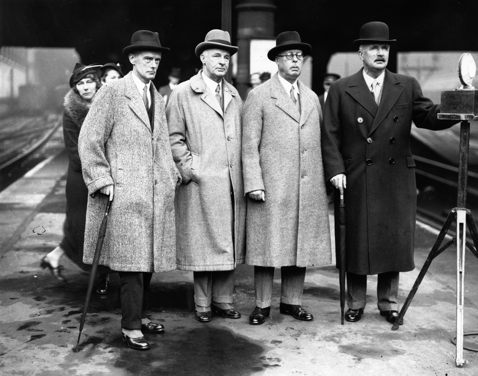 Reginald Coupland and other members of the Royal Palestine Commission