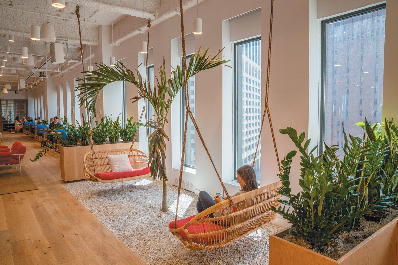 A WeWork office in lower Manhattan, 2019