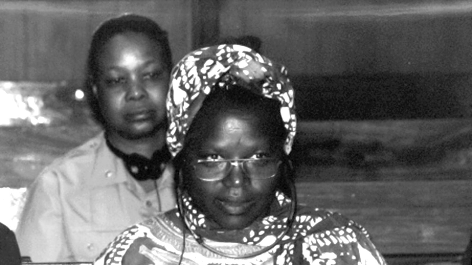 Pauline Nyiramasuhuko at her trial for war crimes