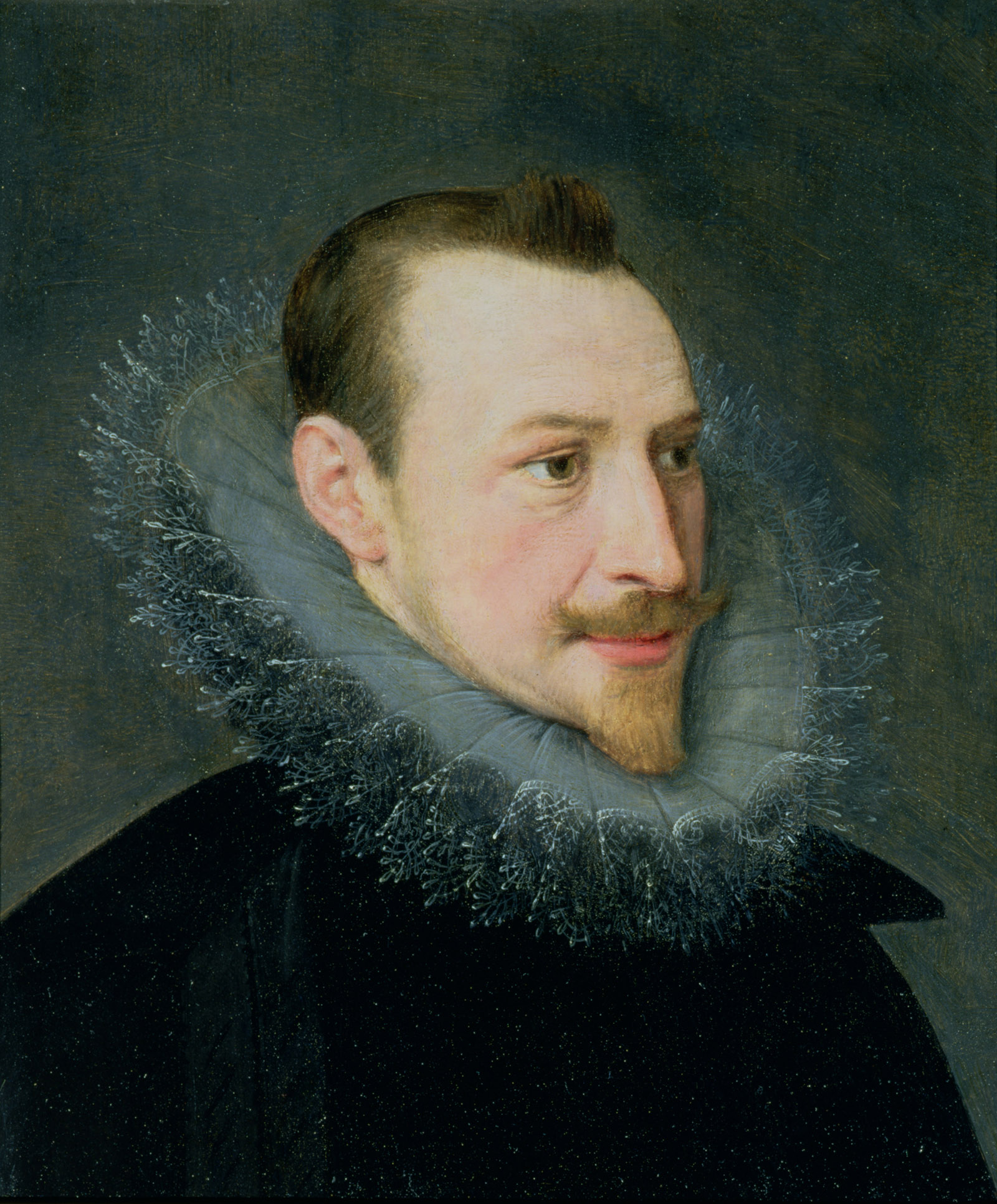 A portrait traditionally considered to be of Edmund Spenser, though disputed by modern scholars