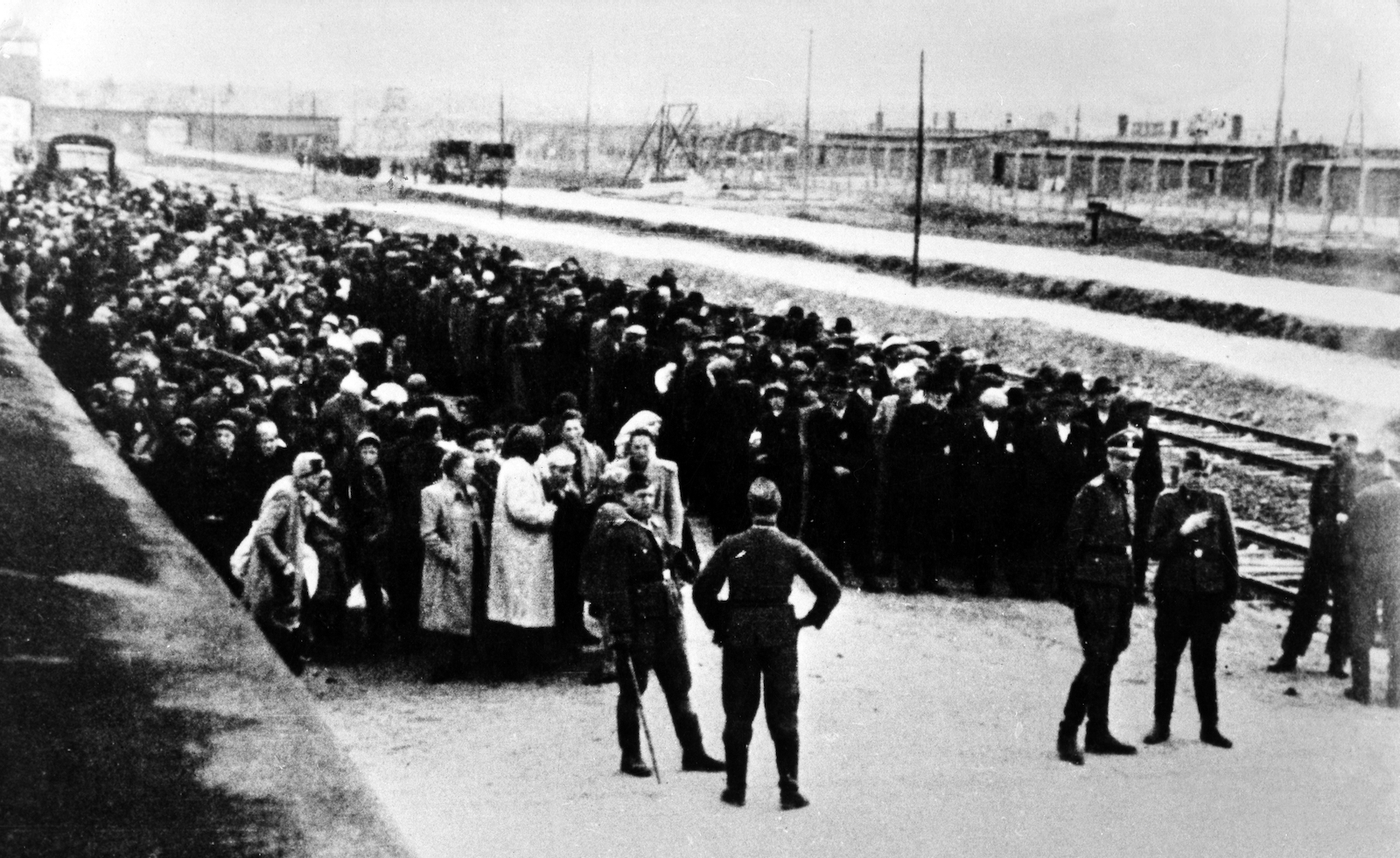 The selection ramp, Auschwitz, 1944