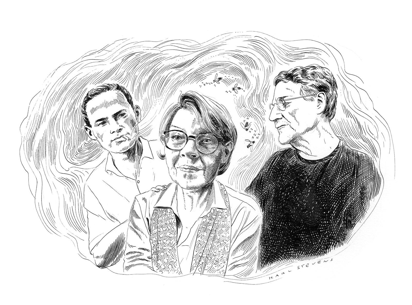 Guido Morselli, Frederika Randall, and Giacomo Sartori