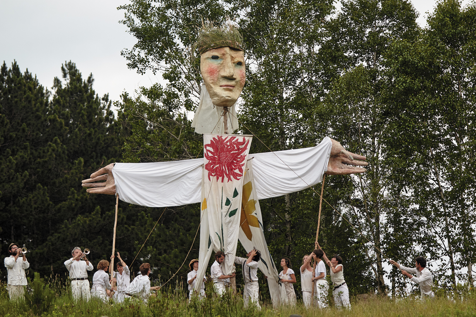 A performance by Bread and Puppet Theater, Glover, Vermont, July 2013