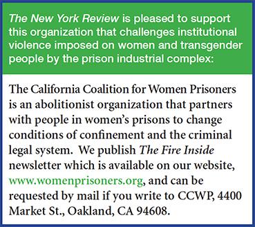 Ad for the California Coalition for Women Prisoners Newsletter