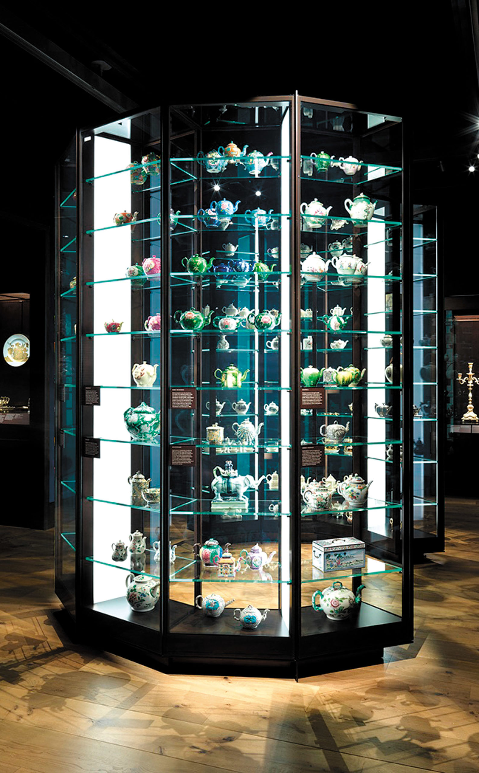 The 'Tea, Trade, and Empire' room in the British Galleries