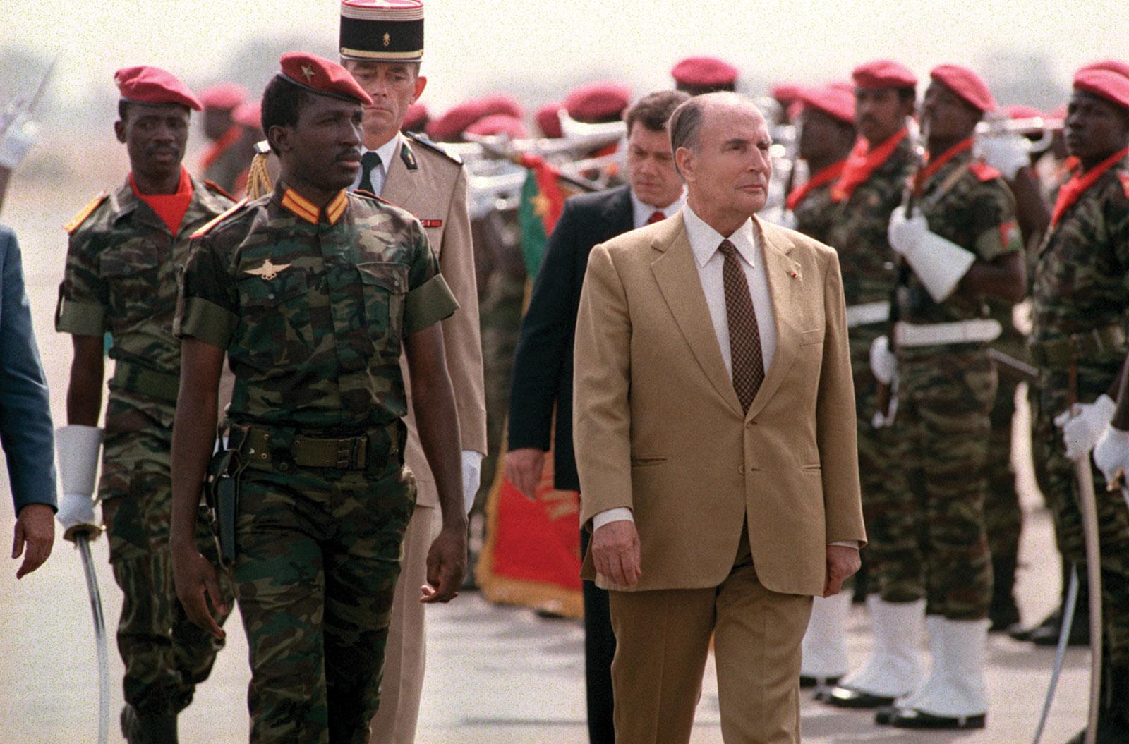 Thomas Sankara and François Mitterrand