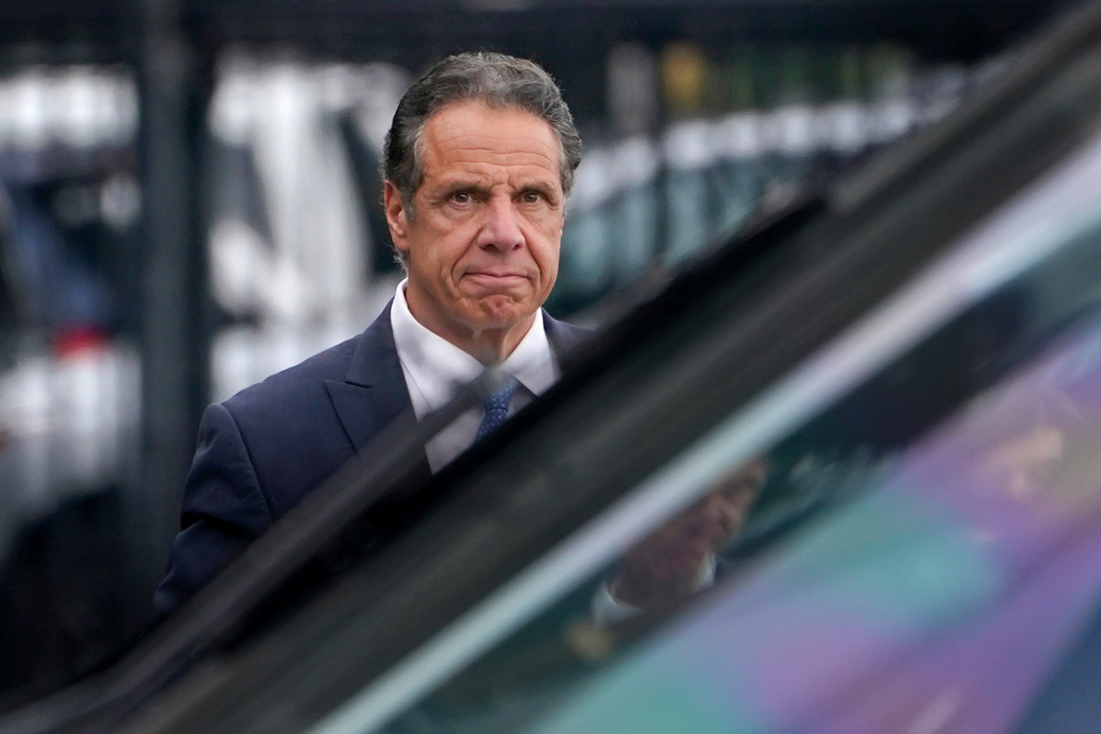 Governor Andrew Cuomo after announcing his resignation