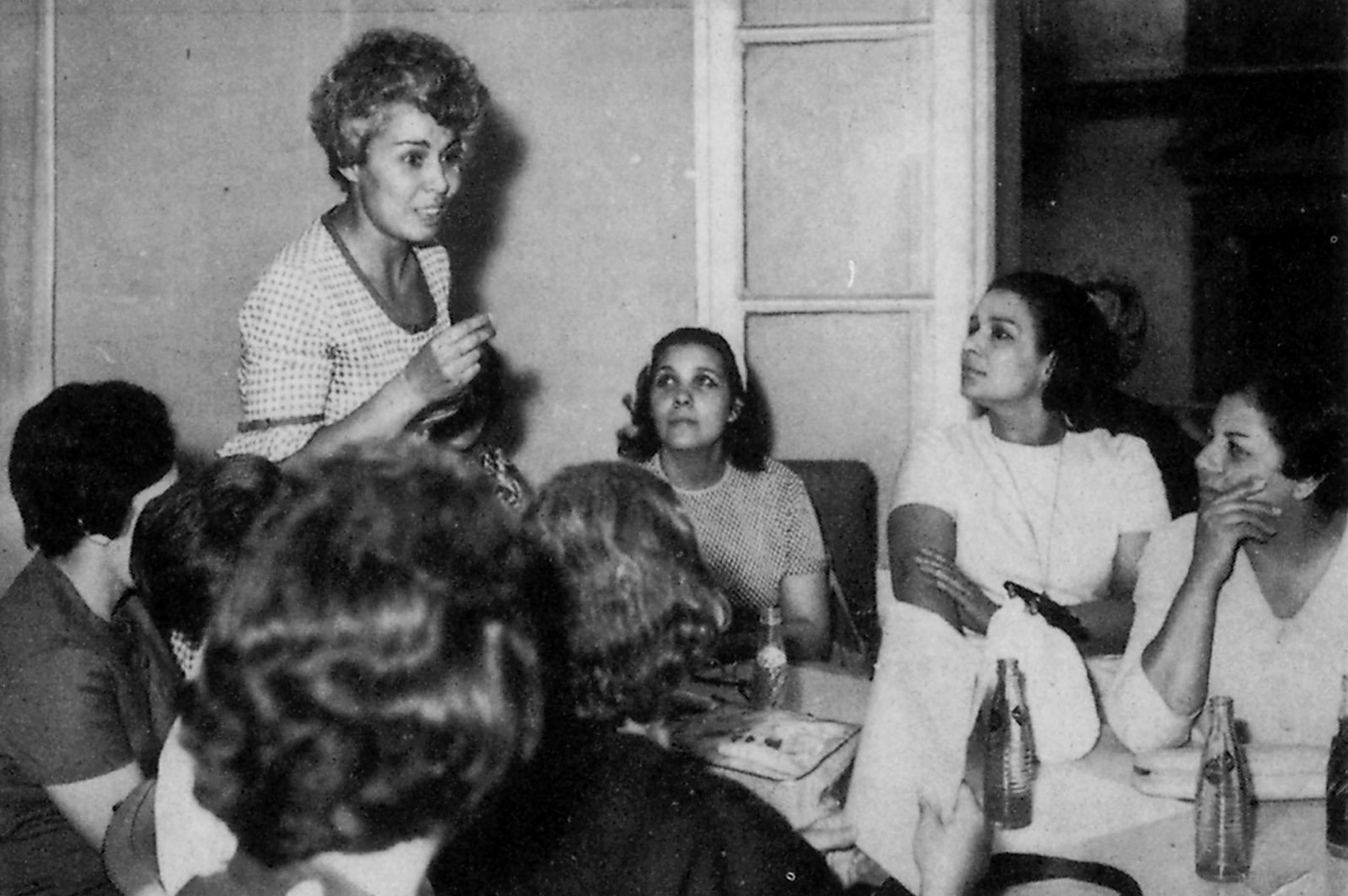 Nawal El Saadawi at the inaugural meeting of the Egyptian Women Writers' Association, Cairo, 1970