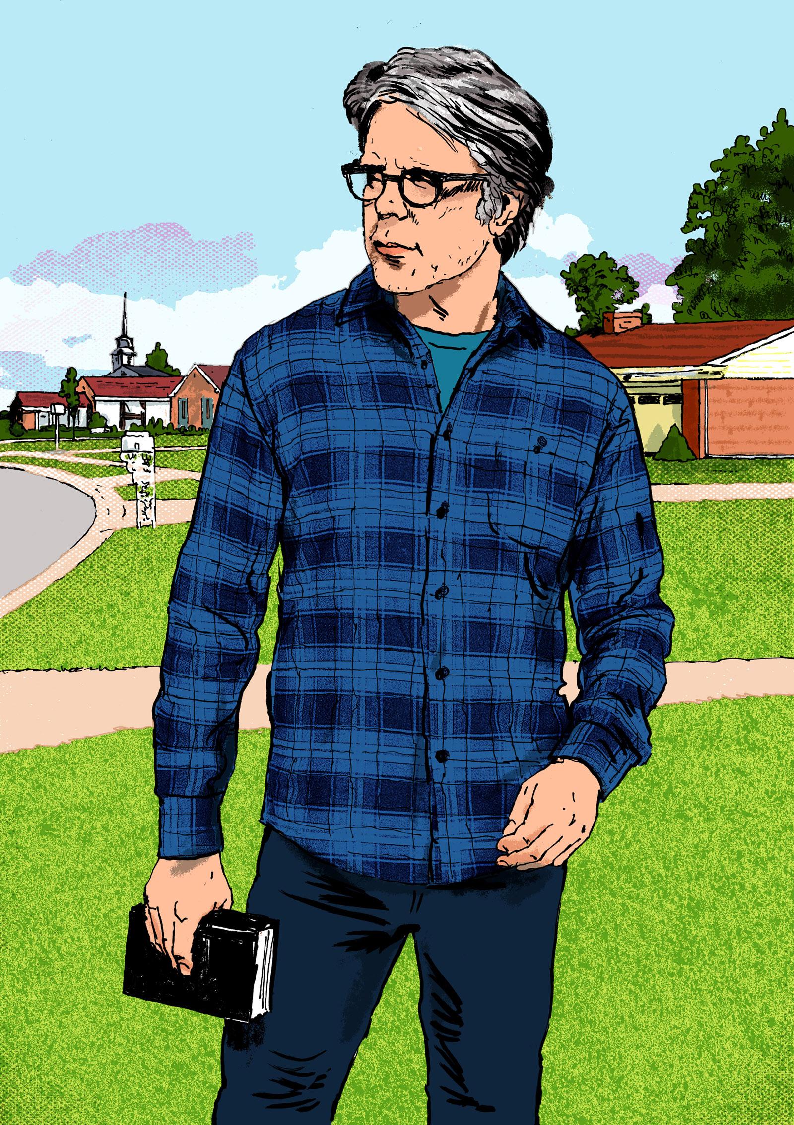 Jonathan Franzen; illustration by Ruth Gwily