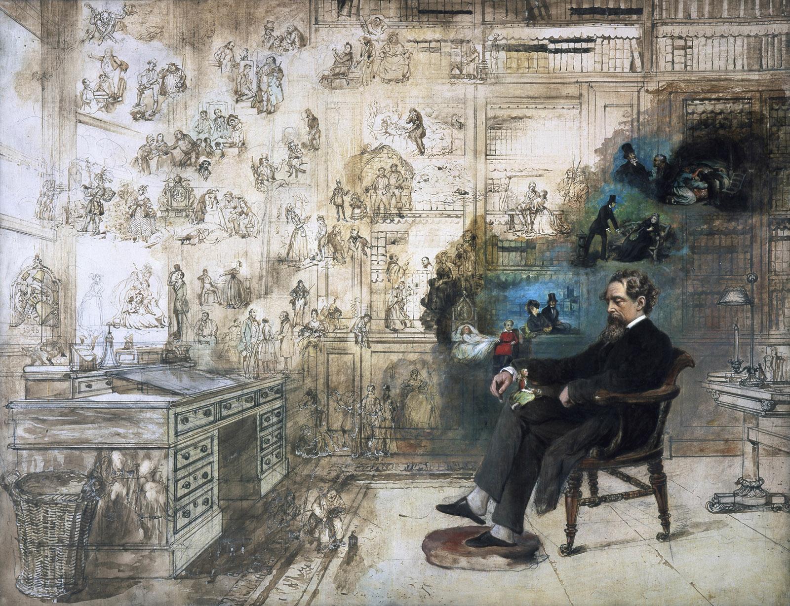 Dickens's Dream; illustration by Robert William Buss