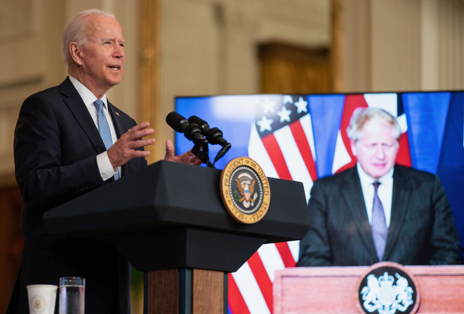 President Joe Biden delivering remarks